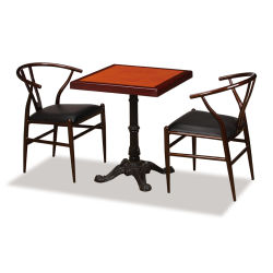 Strong Wooden Top Hotel Coffee Restaurant Dining Table