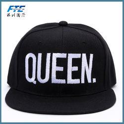 Custom 3D Embrodiery Logo Flat Brim Men Snapback Hat