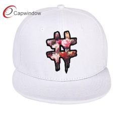 3ed596b4989 Plain Snapback Cap Hat with 3D Embrooidery and Floral Print Logo