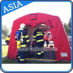 Durable Inflatable Relief Tent, Inflatablered Crosstent, Inflatable Disaster Tent