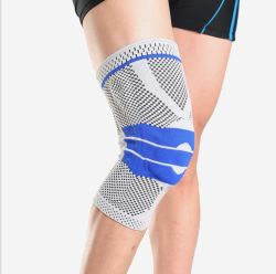 Free Sample Wholesale Adjustable Hinged Silicon Knee Pad Sports Protection Breathable Nylon Knee Support Injury Recovery Compression Knee Brace