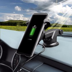 2018 Cell Phone Car Charger Station Fast Charge 2.0 Qi Car Wireless Charger for iPhone X