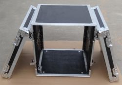 12u DJ, Power Amplifier Protection Flight Case with 4 Wheels