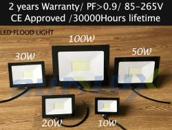2018 Chinese Manufacturer of Outdoor Lighting LED Flood Light 10W 20W 30W 50W 100W IP65 Waterproofing for Sports Fields