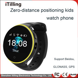 Bluetooth Sport Fitness Round Color Screen Kids/Children Sos Smart Wrist Band /Watch Mobile Phone with SIM Card Slot