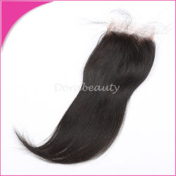 Straight Brazilian Hair Freestyle Top Lace Closure Bleached Knots