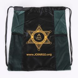 Waterproof Custom Promotional Sports Drawstring Shoe Backpack Bag with Mesh Pocket