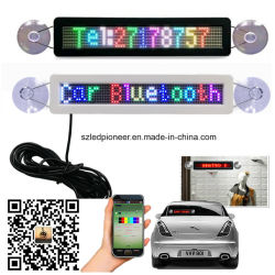 12V Car Shop Indoor Use Suction Cup for Glass Window Installation Programable Scrolling Message RGB Full Color Bluetooth LED Car Sign Display