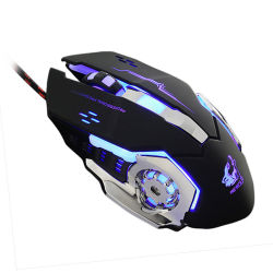 3aaf6de3a2c Gaming Mouse Mause 4000dpi Adjustable Computer Optical LED Game Mice Wired  USB Games Cable Mouse Lol