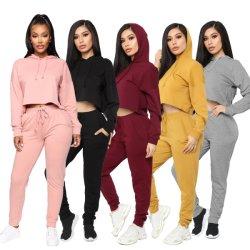 Women Fashion Clothes Casua Two-Piece Sports Suit Sweatshirts Jogging Suit Sports Wear