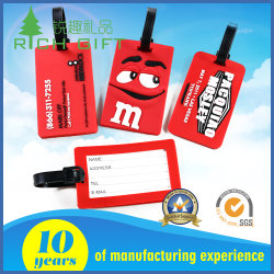 Customized Hard Plastic PVC Luggage Tag with Clear Strap for Promotional Gifts