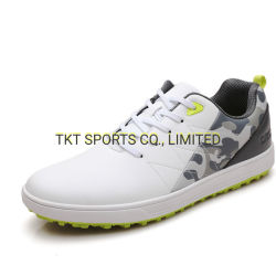 Golf Shoes Full Grain Leather and Quick Lacing and Membrance Sock Waterproof Technology +Memory Foam Insole+ Softspikes Golf Sports Shoes G20403A-1