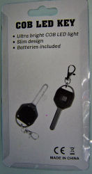 COB LED Key Chain with Key Design Ideal for Travel and Promotion Mini Flash Light