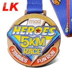 Wholesale Metal Crafts Custom Designs Gold Marathon Running Race Sport Award Medals for Promotion Gift
