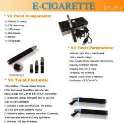 Newest Variable Voltage Battery and Clearomizer CE4 V3