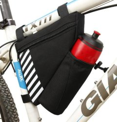 Factory Customized Unisex Sport Bicycle Accessories Storage Bag Travel Triangle Saddle Frame Cycling Bike Bag
