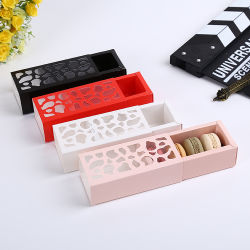 Window Single Cup Paper Cake Box Candy Cookies Packing Hollow Logo
