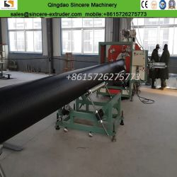 HDPE PP Hollow Wall Winding Plastic Sewage Pipe Production Extrusion Line