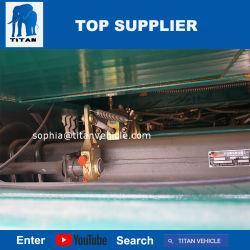 Titan 3 Axle 60 Ton Hydraulic Front Loading Low Boy Detachable Goose Neck Low Loaders Semi Truck Trailer Price