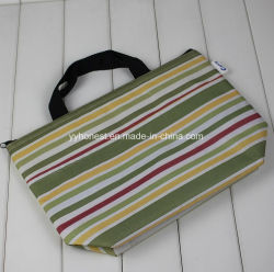 New Design Strip Printed 420d Insulted Lunch Bags for Women