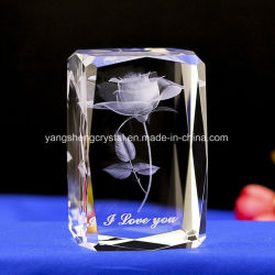 High Quality Beveled Crystal with 3D Laser Engraved Image