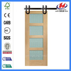 Glass Antique Shower Sliding Stainless Solid Wood Barn Door