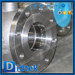 Didtek CF8m Soft Sealing Trunnion Ball Vlave with Stem Extension