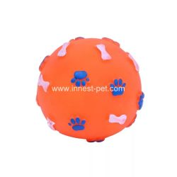Multi-Colors Squeaky Dog Chew Toy Rubber Ball, Pet Items