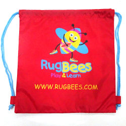 Polyester Reusable Gym Bag, Drawstring Backpack Shopping Bag, Fitness Sling Bag, Sports Rucksack Gymsack, Gymbag Gym Sack