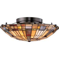 Tfc-A82 Tiffany Inglenook Flush Mount Glass Ceiling Lighting