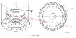 "6"" 120W Neodymium Magnet Woofer, 1.5"" Voice Coil, Gw-603na, Loudspeaker"