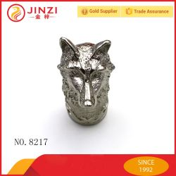 Hot Sale Metal Silver Fox Heads Quality Crafts