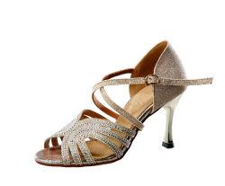 ff02145ec 2 Colors New Latin Dance Shoes High Heeled Rhinestone Tango Jazz Salsa  Dancing Sandal with Heels