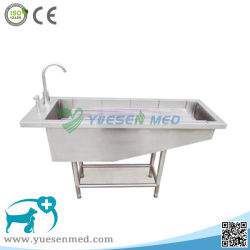 Ysvet-Cx130 304 Stainless Steel Veterinary Dog Bath Tub