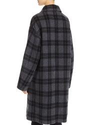 Wholesale Women Plaid Car Long Coats with Your Own Logo