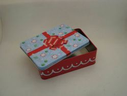 Decorated Tin Box for Packing Birthday and Christmas Gift