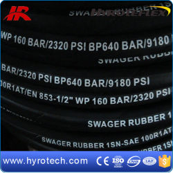 High Quality Hydraulic Flexible Rubber Hose Smooth Surface R1at