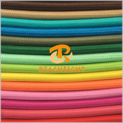 VDE UL Cloth Covered Wire Braided Electrical Wire Fabric Cable Textile Electric Wire