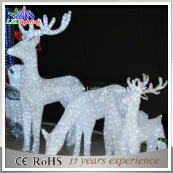 outdoor white lighted reindeer for led christmas decorations reindeer - Animated Lighted Reindeer Christmas Decoration