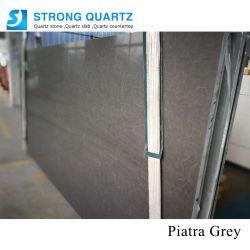 Granite Marble Looks Artificial Quartz Stone Slabs Sq7001 Piatra Grey