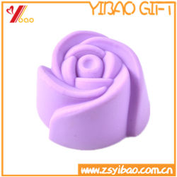 Customized Kitchenware Food Grade Rose Shape Silicone Cake Mould