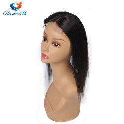 Lace Closure Straight Human Hair Brazilian Remy Hair 4X4 Middle Brown Free Part Bleached Knots with Baby Hair