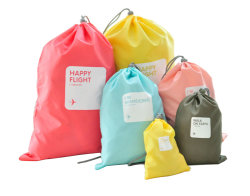 Polyester Dust Sport Gym Fabric Shoes Drawstring Bag