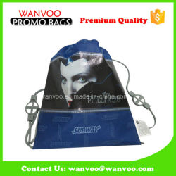 Fashion Trend Blue 190t Polyester School Backpack Bag for Sport