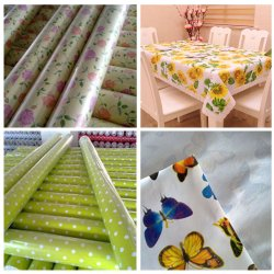 Water Proof / Oil Proof PVC Printed Vinyl Table Cloth for Party
