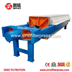 870 Open Discharge PP Hydraulic Chamber Filter Press for Coal Washing