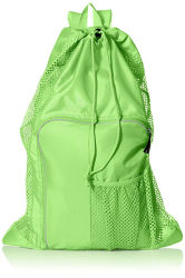 Mesh Net Bag Drawstring Backpack Sport Bag