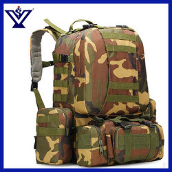 Police Camouflage Military Tactical Backpack with Molle Straps (SYSG-1813)