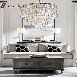 Hotel Decorative Amber LED Crystal Customized Chandelier Pendant Lighting