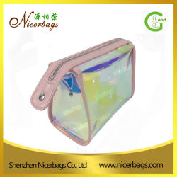 2017 New Arrival Iridescent PVC Cosmetic Bag Clear Vinyl Pouch